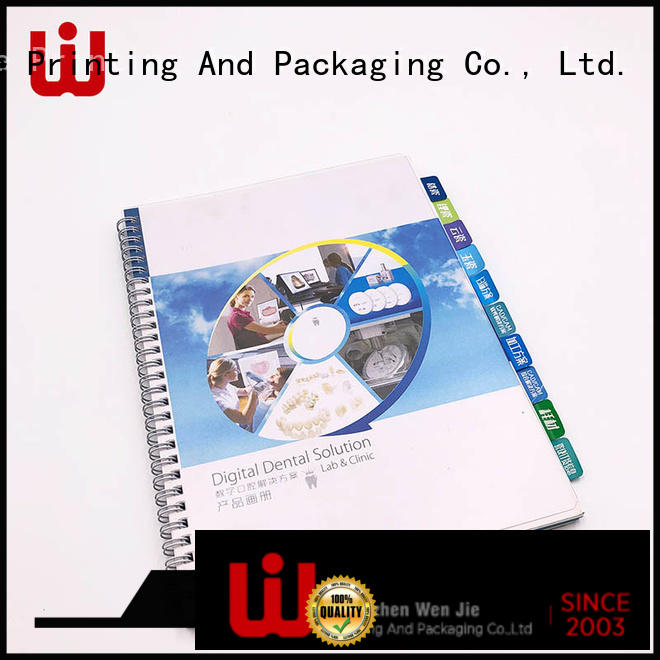 WenJie case art catalogue printing supplier for book store