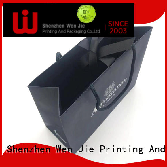 paper bag white for shop WenJie