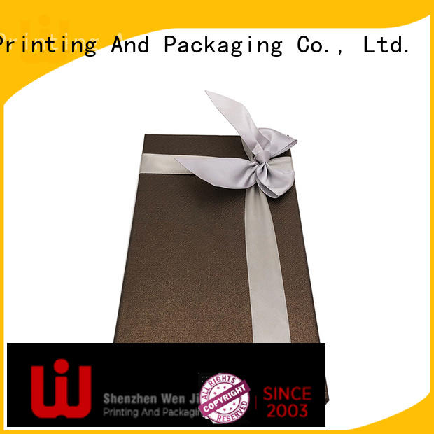 WenJie patterned red cardboard gift boxes design for store