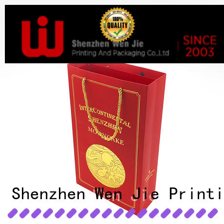 WenJie lady paper bag directly price for store