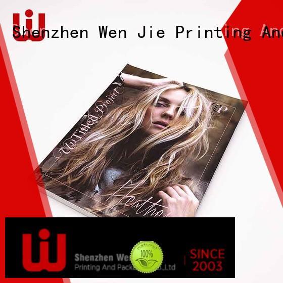 WenJie Custom brochure printing software factory for press