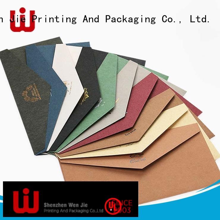 WenJie printing order pre addressed envelopes wholesale for shop
