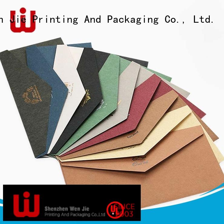 WenJie fancy custom printed security envelopes company for shop