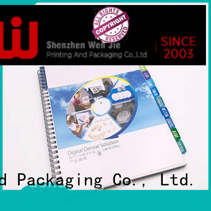 WenJie catalogbrochure art catalogue printing promotion for restaurant