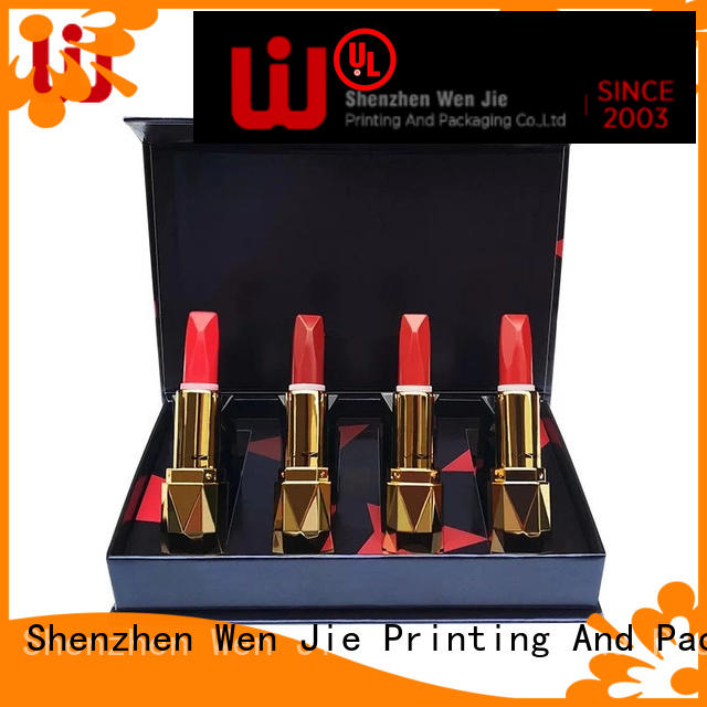 designs cosmetic paper box base for store WenJie
