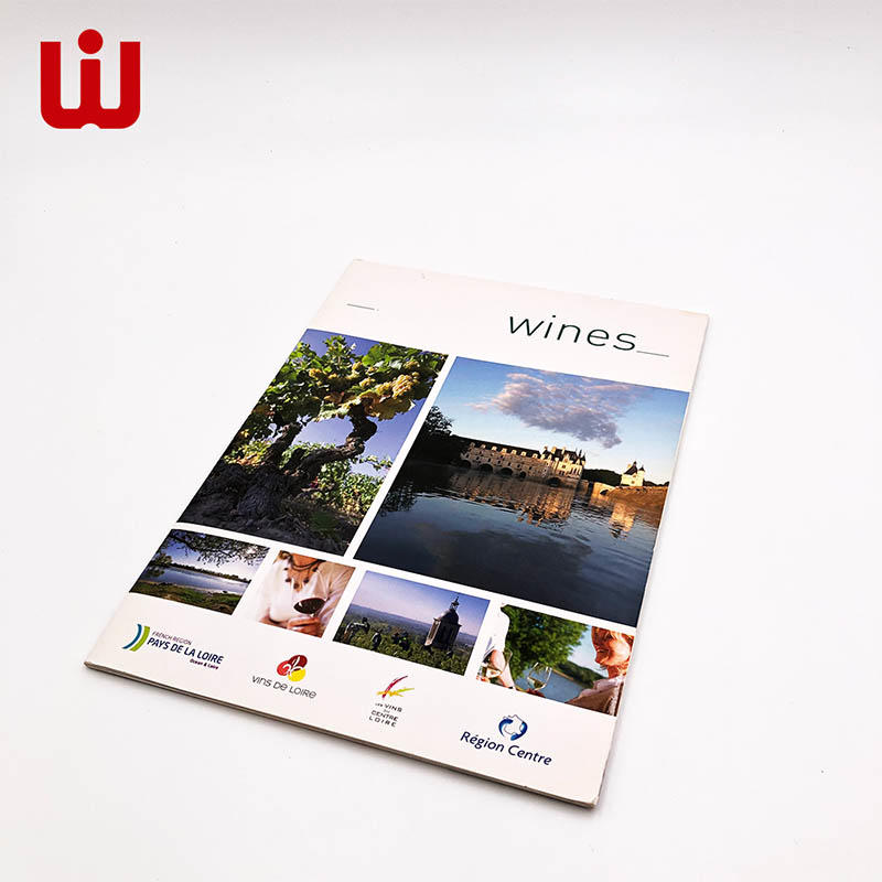 Brochure book printing hard cover case bound catalog high quality