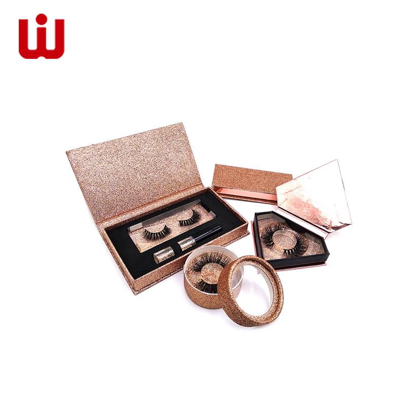 WenJie-Cosmetic Box Luxury Custom Glitter False Eyelash Packing Box