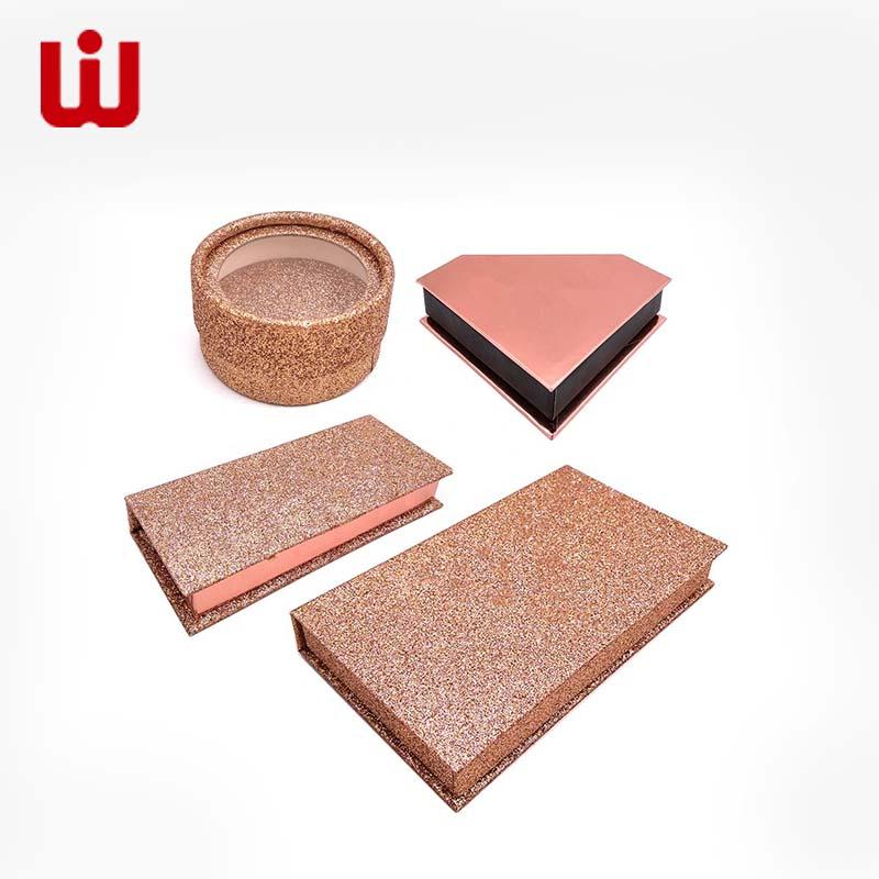 WenJie-Cosmetic Box Luxury Custom Glitter False Eyelash Packing Box-1