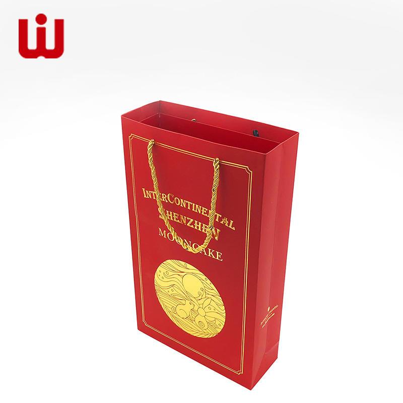 WenJie kraft paper bag wholesale for shop