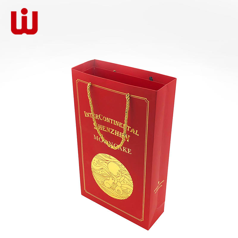 WenJie gift long paper bag with handles for shopping