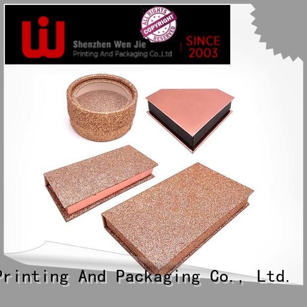 Luxury Custom high quality glitter false eyelash packing box