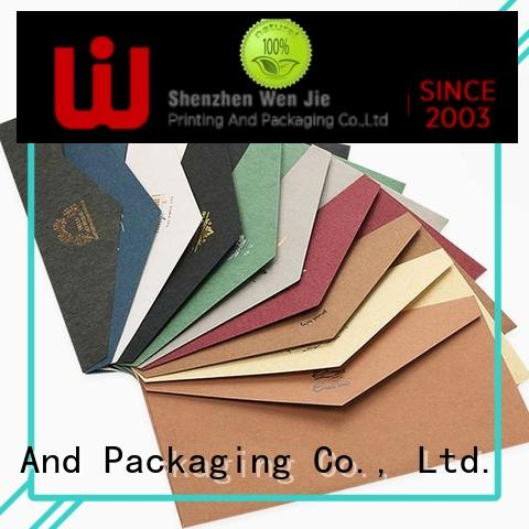 Best colored business envelopes card factory price for book store
