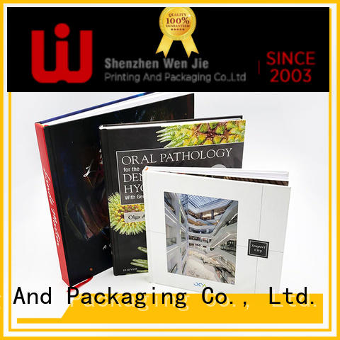 WenJie gold saddle stitch booklet printing Suppliers for book store