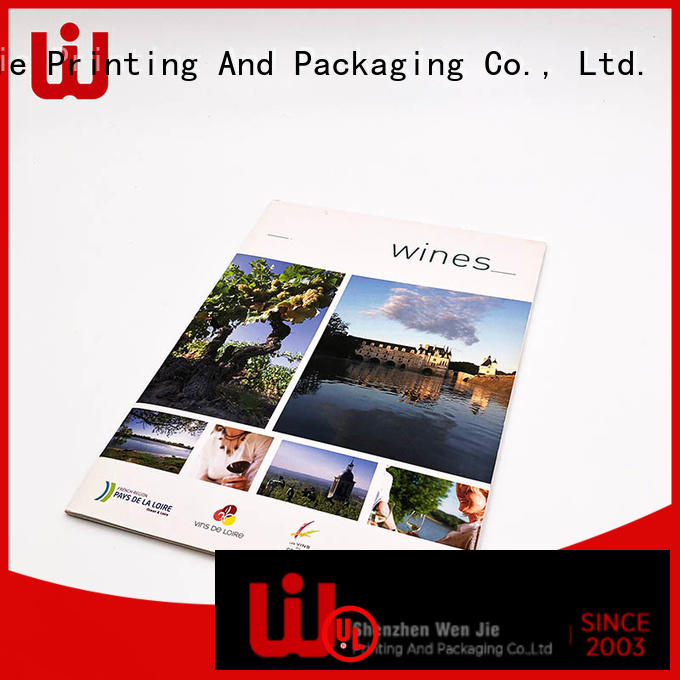 WenJie case laminated brochure printing factory for book store