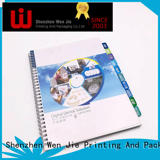 WenJie customized art catalogue printing supplier for book store