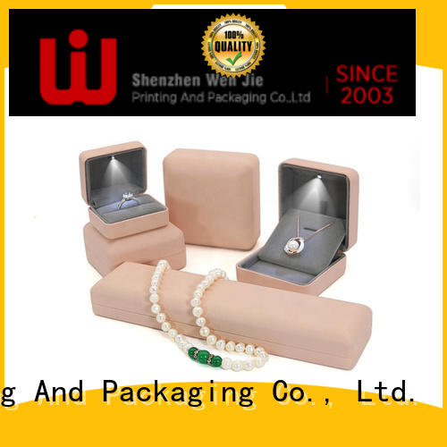 WenJie elegant luxury jewelry box free for jewelry store