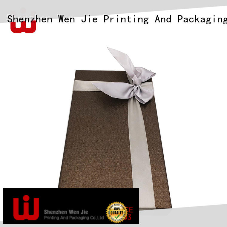 WenJie attractive paper gift box wholesale for beauty store