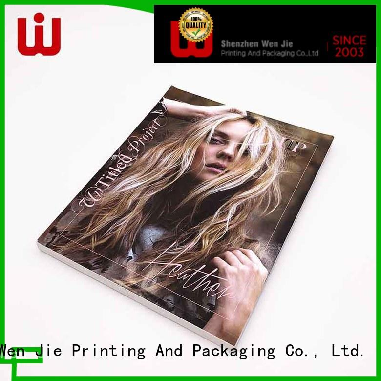 WenJie special custom magazine printing directly price for publisher