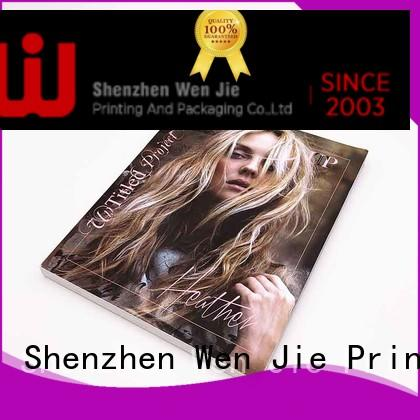 WenJie professional print your own magazine online for press