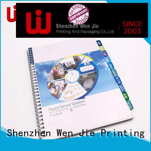 cover catalog printing art for restaurant WenJie
