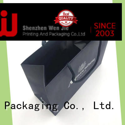 WenJie brown kraft paper bag directly price for shopping