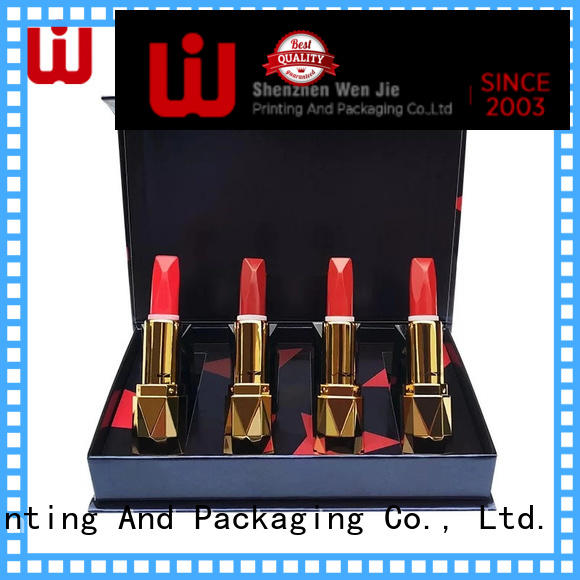 WenJie luxury cosmetic paper box directly price for shop