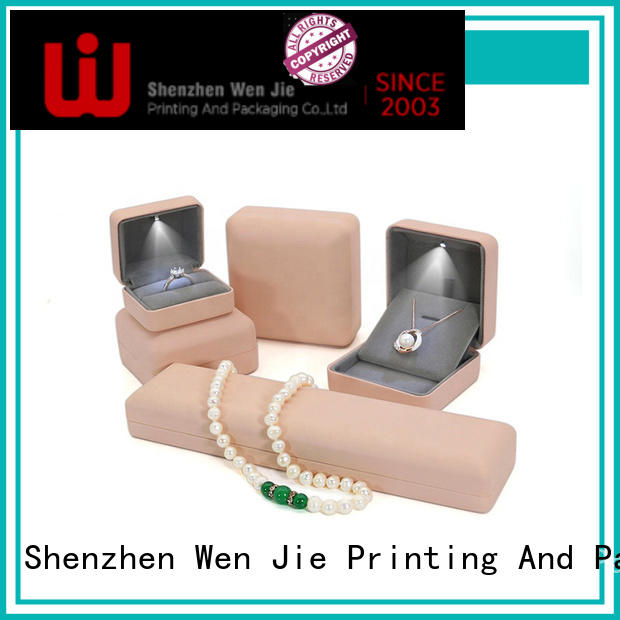 WenJie elegant luxury jewelry box paper for wrapping