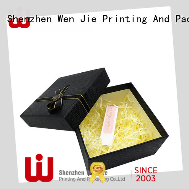 WenJie patterned large brown gift box factory for beauty store