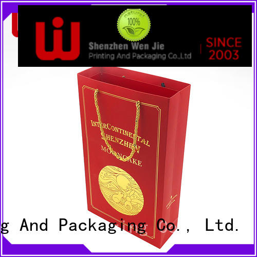 WenJie white paper shopping bag luxury for shopping