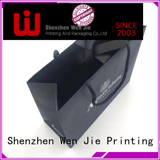 WenJie luxury block bottom paper bags directly price for store