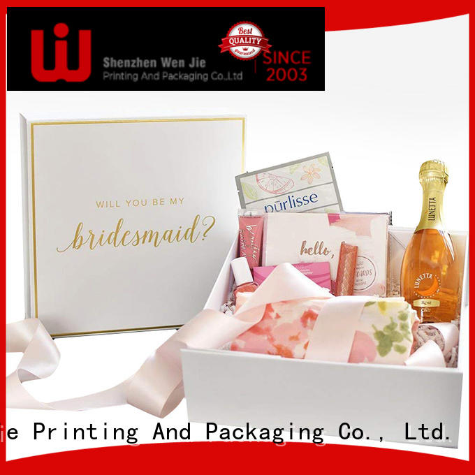 WenJie beautiful custom magnetic box supplier for store