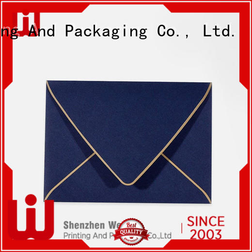 WenJie customized made to order envelopes Supply for shop