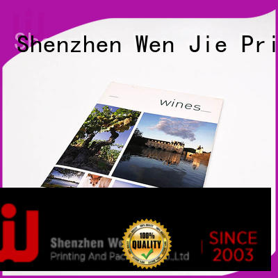 WenJie bound graphic print promotion for store