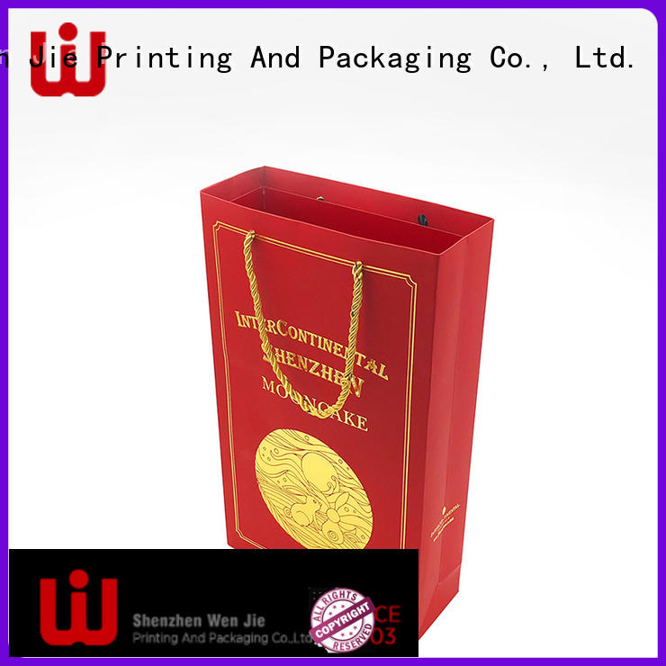 WenJie customized paper bag with handles for store