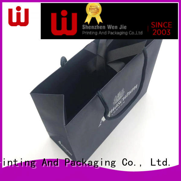 WenJie shopping kraft paper bag with handles for shopping
