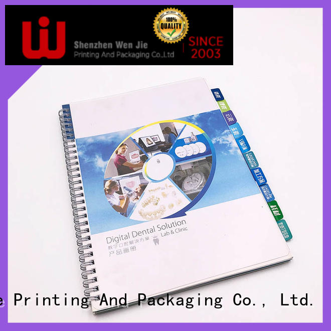 Custom a4 colour brochure printing art promotion for shop
