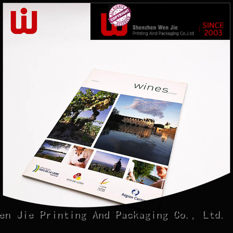 WenJie Top color postcard printing Supply for book store
