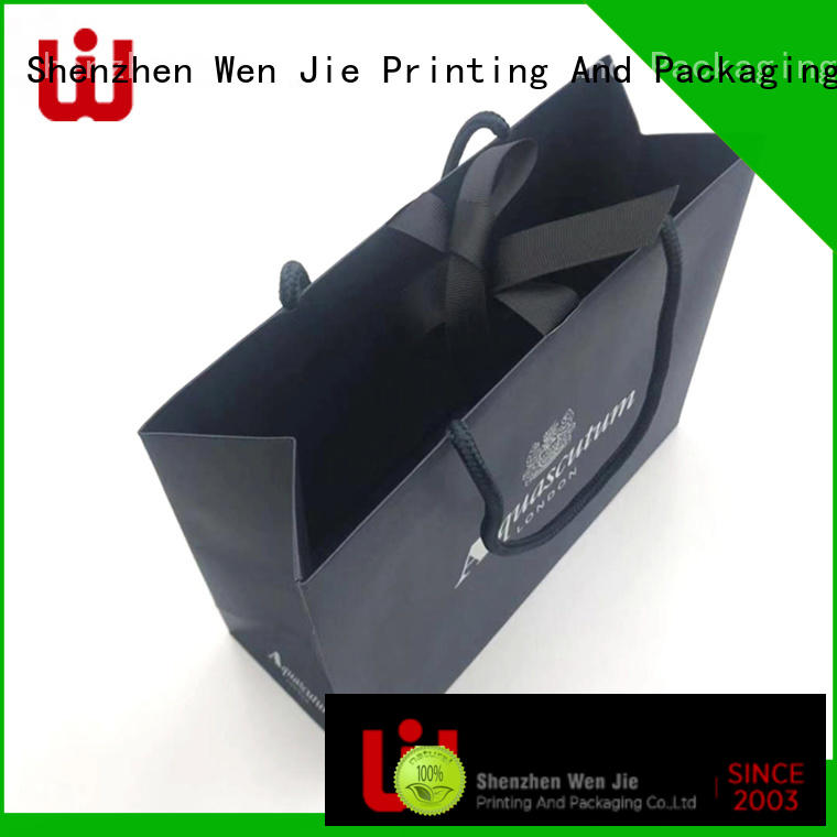 WenJie luxury bulk shopping bags paper with string for market
