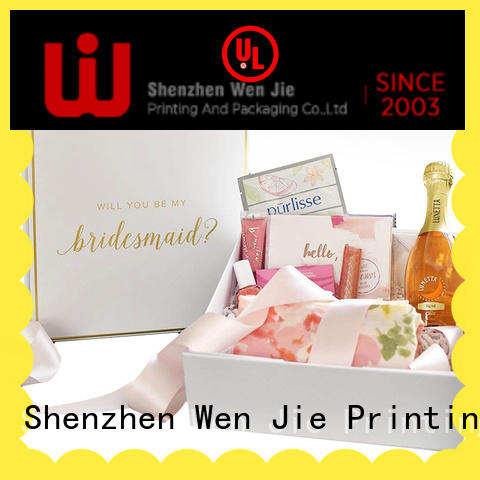 magnetic box packaging folding for gift WenJie