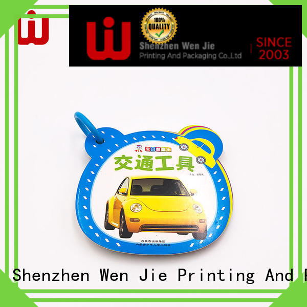 WenJie notebook tri fold brochure printing services directly price for publisher