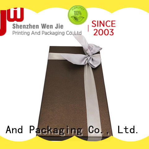 WenJie gift mini gold gift boxes from China for supermarket