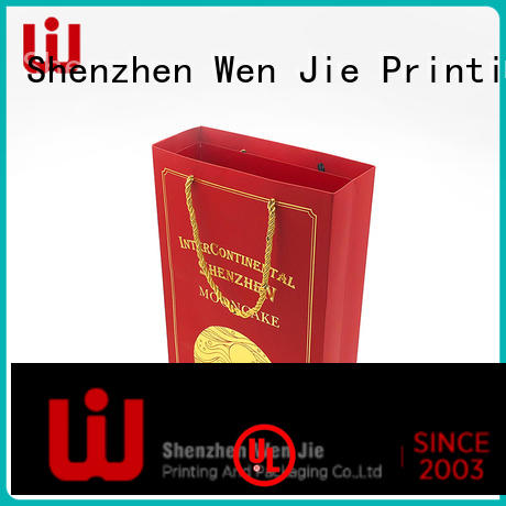 WenJie brown kraft paper bag China wholesale for store