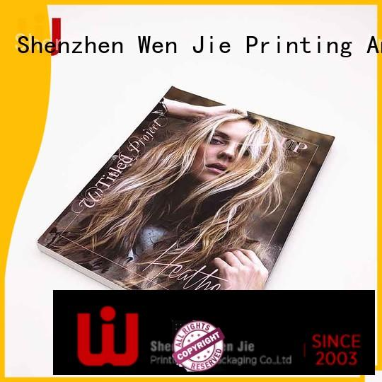 WenJie gold magazine booklet for business for publisher