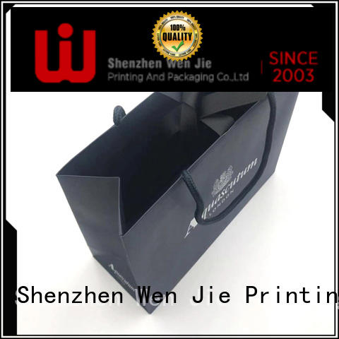 WenJie customized paper bag with string for shopping