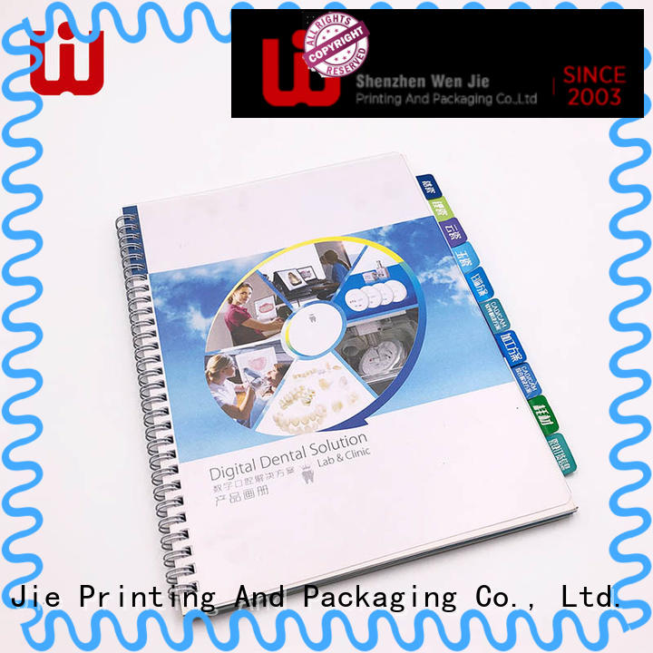 WenJie good quality catalog printing cheap catalogbrochure for store