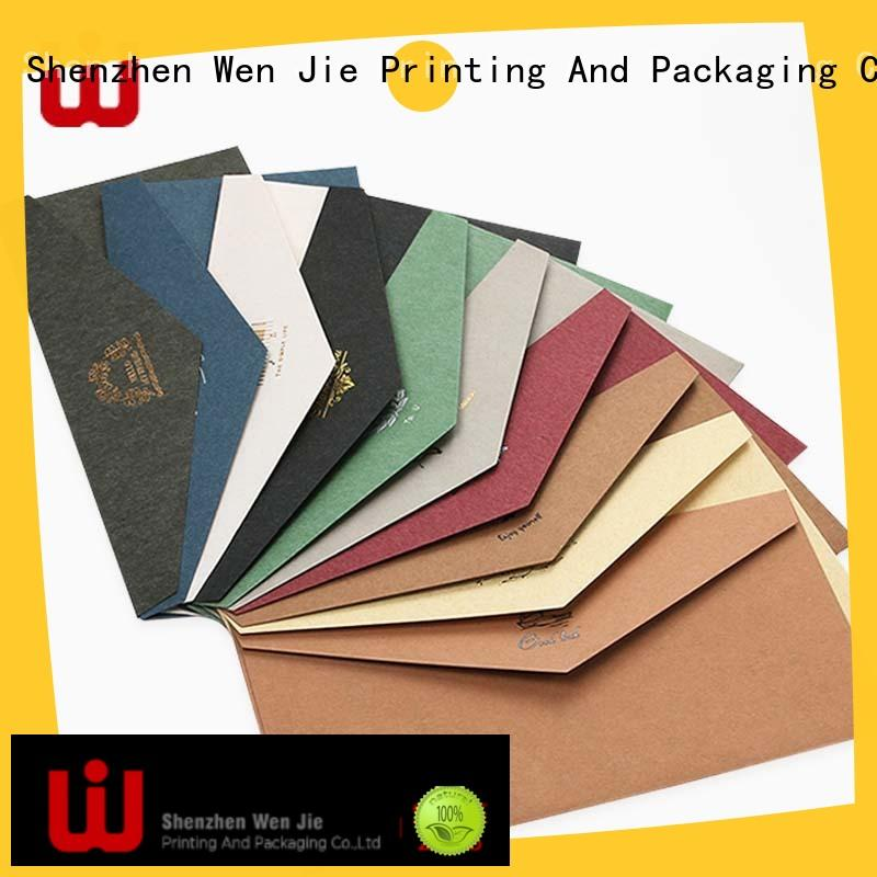 WenJie unique logo envelop factory price for store