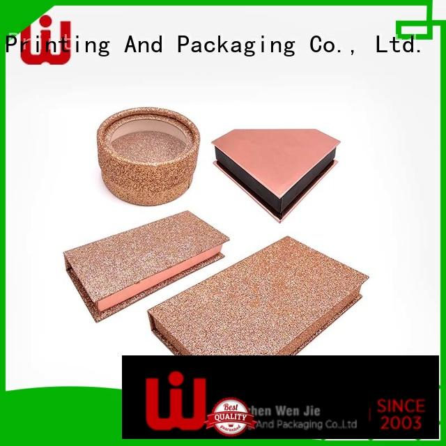 WenJie beautiful cosmetic paper box online for beauty shop