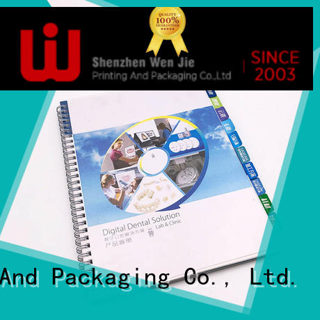 WenJie paper product catalog printing promotion for store