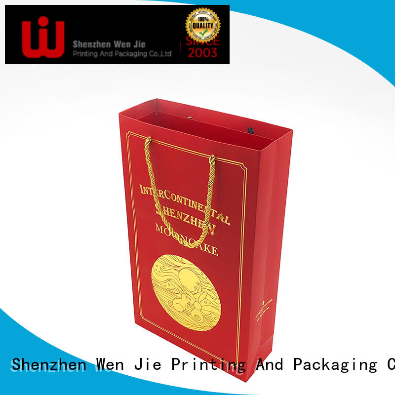 WenJie customized kraft paper bag with handles for store