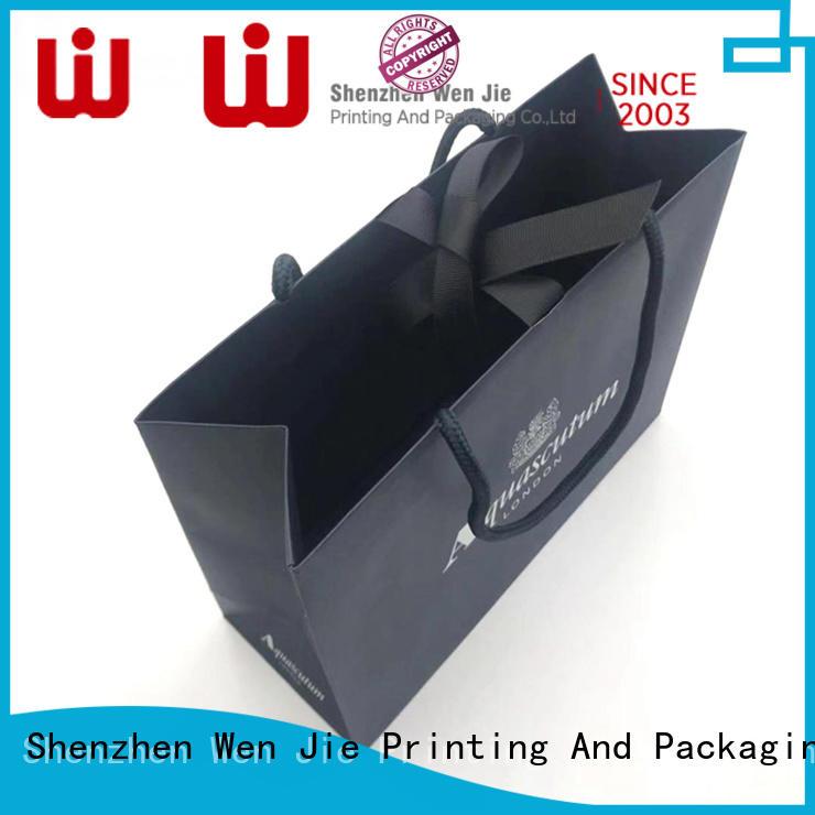 WenJie gift orange paper sacks company for shopping
